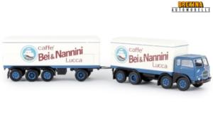 BREKINA PLAST – FIAT – 690 TRUCK MILLEPIEDI 4-ASSI CAFFE' BEI & NANNINI 1961 – 1/87