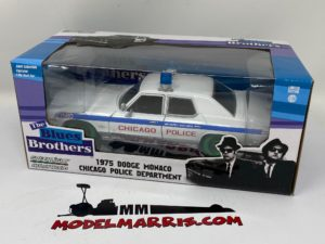 GREENLIGHT – DODGE – MONACO CHICAGO POLICE 1975 – THE BLUES BROTHERS – GREEN WHEELS – LIMITED EDITION –