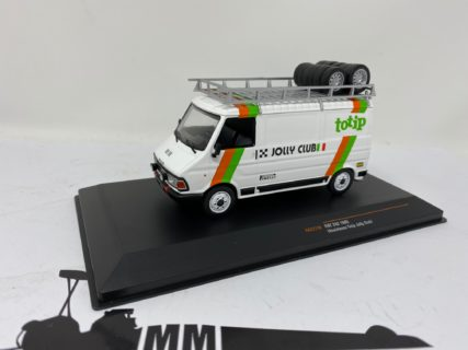 IXO-MODELS – FIAT – 242 VAN FIAT TEAM TOTIP JOLLY CLUB ASSISTANCE RALLY 1985 – LANCIA 037 – 1/43