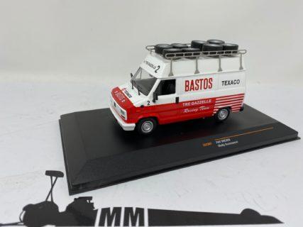 IXO-MODELS – FIAT – DUCATO VAN TEAM TRE GAZZELLE 2 BASTOS TEXACO RALLY ASSISTANCE LANCIA 037 1985 – 1/43