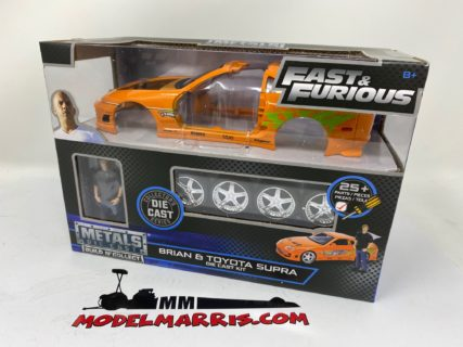 JADA – TOYOTA – SUPRA MKIV 1995 – PAUL WALKER – WITH FIGURE BRIAN O'CONNER – FAST & FURIOUS I (2001) 1/24