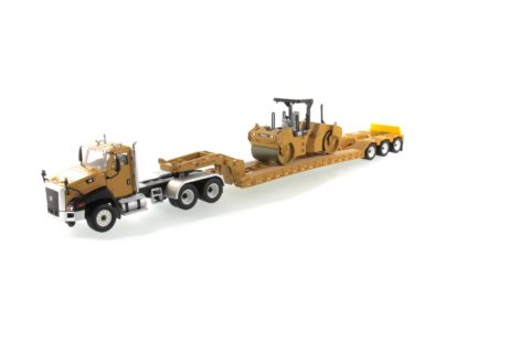 Cat CT660 Truck + Trailer w/ CB-534 Compactor – DIECAST MASTERS – 85601c