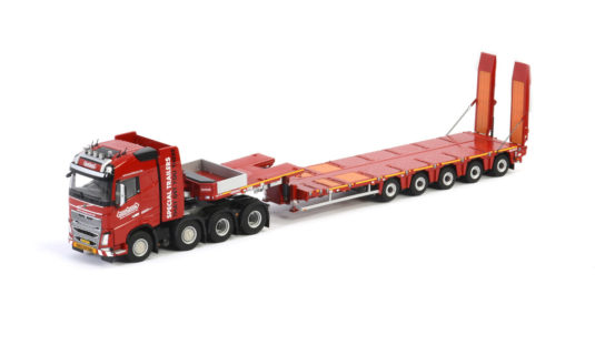 Nooteboom Redline Series – MCO-PX 5-axle with 80T heavy duty ramps with a Volvo FH04 Globetrotter 8×4  – IMC – 5760611