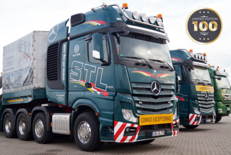 STL Mercedes Benz Actros Gigaspace 8×4 con Nooteboom MCO121-07V – IMC – 1/50 – 33-0100
