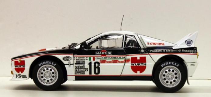 ***PREORDINE***  Kyosho Lancia Rally 037 Club Grifone – Würth – Cunico / Bartolich – 1983 Costa Smeralda