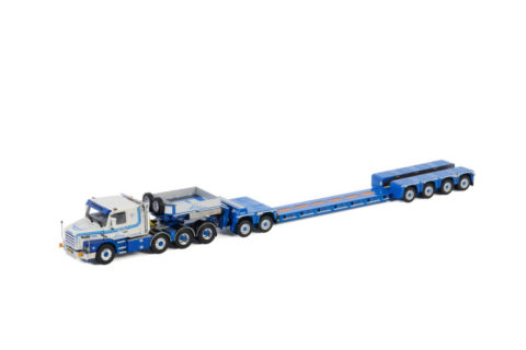 L.A. v.d. Heuvel; SCANIA 3 SERIES 8X4 LOWLOADER EURO 4 AXLE | DOLLY 2 AXLE | Custom Tooling – 1:50 – WSI – 01-2988