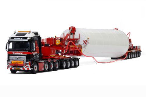 Mammoet – VOLVO FH 4 GLOEBETROTTER XL 8X4 WIND MILL TRAILER – 7 AXLE / DOLLY – 4 AXLE – 1:50 – WSI – 410253