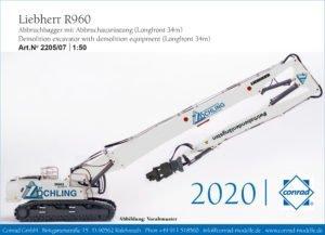 Liebherr R960 – Zöchling – demolitore + accessori – CONRAD 2205/07