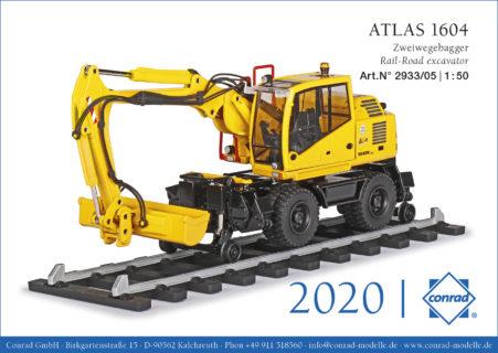 ATLAS 1604 escavatore gommato ferroviario – RAIL ROAD – CONRAD 2933/05