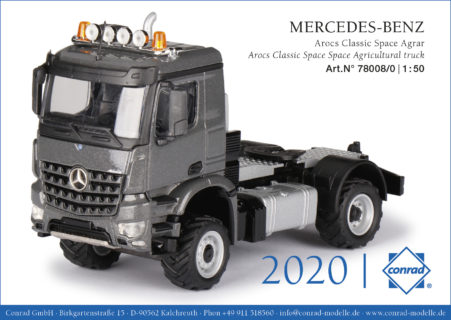 Mercedes Arocs Classic Space – Agricultural truck  – CONRAD 78008/0