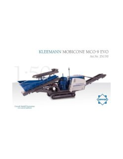 KLEEMANN MOBICONE MCO 9 EVO Track-mounted – Conrad – 1:50 – 2517/01