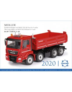 MEILLER Three-way-tipper on MAN TGS M Euro 6c 4-axle – Conrad – 1:50 – 77241/0