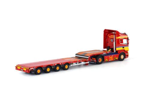 *** PREORDINE *** Klappenecker; Scania R6 Highline 4×2 Nooteboom semi dieplader (4as) – WSI – 1:50 – 01-1393