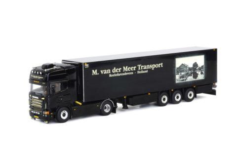M. van der Meer; Scania R(5) topline 4×2 Refrigerated trailer – WSI – 1:50 – 01-1476
