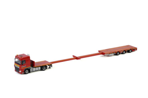 Transports Capelle; DAF XF SPACE CAB 4X2 MEGATRAILER FLATBED – 3 AXLE – WSI – 1:50 – 01-3105