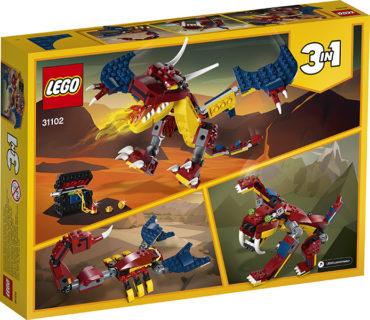 LEGO 31102 LEGO Creator – Drago del fuoco