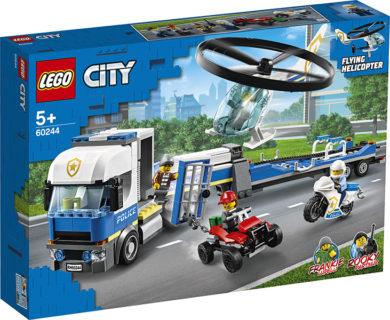 LEGO 60244 LEGO City Police – Trasportatore di elicotteri della polizia