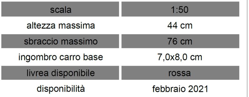 Fari Sirio 35/800 '78-'82  – sbraccio mt 35 – H 22.5 mt – Sirm Scale Models – 1/50 – Modello artigianale made in Italy serie limitata – consegna dicembre '20