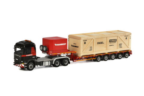 Mammoet; SCANIA R6 STREAMLINE HIGHLINE 6×6 LOWLOADER Nooteboom MCO PX – 5 AXLE / INCLUDING WOODEN BOX – WSI – 02-1832 – 410212 – 1:50