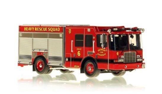 *** SU ORDINAZIONE *** DISPONIBILE DA OTT/NOV 2020 – SERIE LIMITATA 40 PZ. – DETROIT FIRE DEPARTMENT HME HEAVY RESCUE SQUAD 6 – NZG – 1:50 – VFR080-6