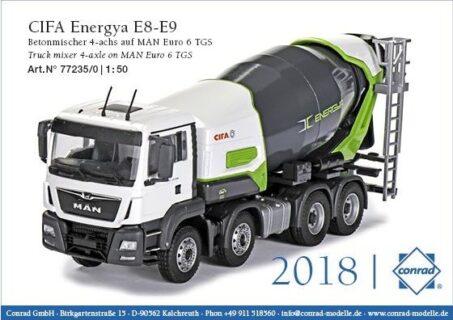 CIFA Energya E8-E9 Plug-in-Hybrid on MAN TGS Euro 6 – CONRAD – 1:50 – 77235/0
