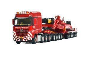 Nooteboom Red Line; MERCEDES BENZ ACTROS MP4 BIG SPACE SLT 8×4 WIND MILL TRAILER – 7 AXLE / DOLLY – 4 AXLE – WSI – 1:50 – 5471267