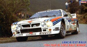 HASEGAWA – LANCIA – 037 TEAM MARTINI RACING N 5 WINNER RALLY TOUR DE CORSE 1984 M.ALEN – I.KIVIMAKI