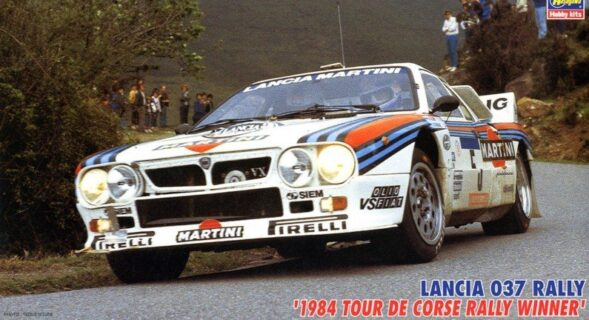 HASEGAWA – LANCIA – 037 TEAM MARTINI RACING N 5 WINNER RALLY TOUR DE CORSE 1984 M.ALEN – I.KIVIMAKI