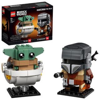LEGO 75317 Brick Headz – Star Wars: Il Mandaloriano e il Bambino