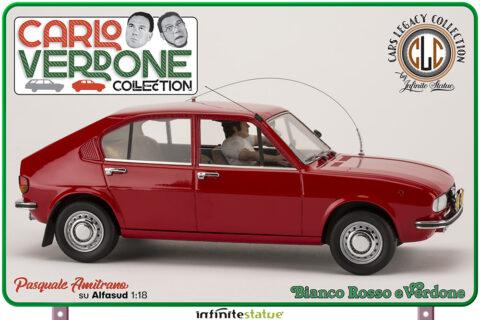 Amitrano on Alfasud 1:18 – CARLO VERDONE – ALFA SUD – BIANCO ROSSO E VERDONE – CLC Models by Infinite Statue