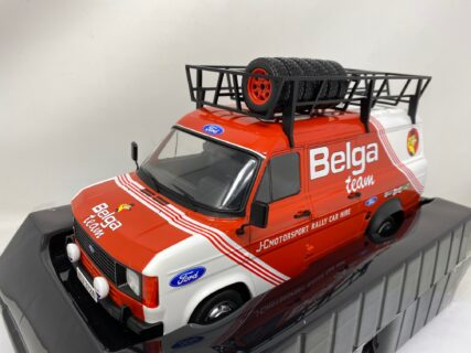 IXO-MODELS – FORD ENGLAND – TRANSIT MKII VAN BELGA TEAM RALLY ASSISTANCE WITH ACCESSORIES 1979