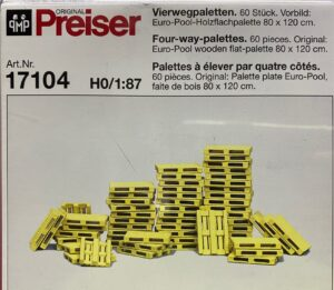 Preiser 17104 – Set Pallet, 60 pz. scala H0 1/87