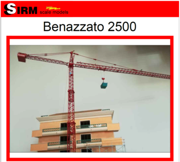 Benazzato 2500 – Sirm Scale Models – 1/50 – Su ordinazione – serie limitata ed esclusiva