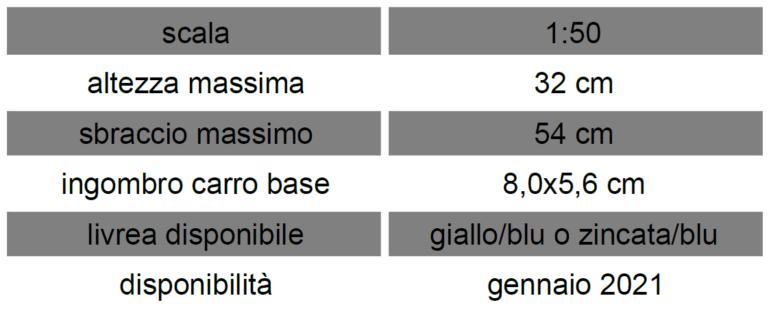 Cibin Autorapid 2760 – Sirm Scale Models – 1/50 – Su ordinazione Gialla/blu o Zincata/blu – serie limitata ed esclusiva