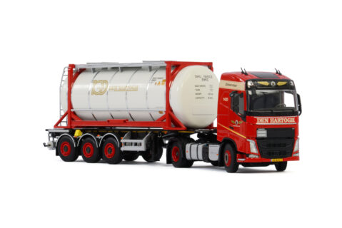 Den Hartogh Logistics; VOLVO FH4 GLOBETROTTER 4X2 CONTAINER TRAILER – 3 AXLE | 20 FT TANK CONTAINER – 01- 3008 – 1:50