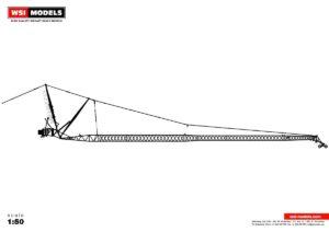 Premium Line; LIEBHERR LTM 1500 8.1 JIB BLACK – 1:50 – WSI – 04-2108
