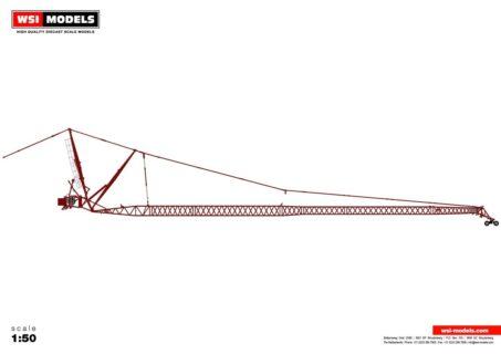 Premium Line; LIEBHERR LTM 1500 8.1 JIB RED – 1:50 – WSI – 04-2109