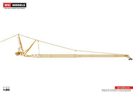 Premium Line; LIEBHERR LTM 1500 8.1 – JIB YELLOW – 1:50 – WSI – 04-2107