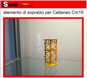 Elemento di sopralzo per Cattaneo Cm19 – Sirm Scale Models – 1/50 – Su ordinazione – Giallo / Verde