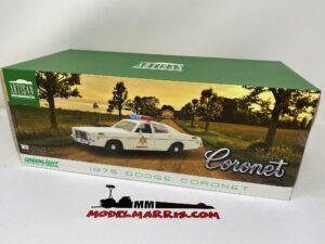 GREENLIGHT – DODGE – CORONET 1975 – HAZZARD COUNTY SHERIFF – POLICE PATROL CAR – 19092 – 1:18