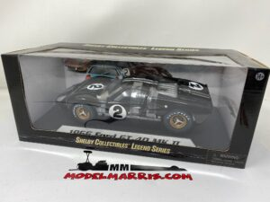 SHELBY-COLLECTIBLES – FORD USA – GT40 MKII 7.0L V8 TEAM SHELBY AMERICAN INC. N 2 WINNER 24h LE MANS 1966 B.McLAREN – C.AMON – SHELBY408 – 1:18