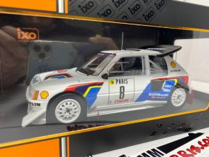 IXO-MODELS – PEUGEOT – 205 T16 EVO2 N 8 6th RALLY MONTECARLO 1986 B.SABY – J.F.FAUCHILLE – 18RMC049C – 1:18