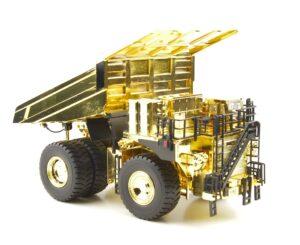 * SOLO SU PRENOTAZIONE * Scale EH5000 ACIII dump truck gold – Hitachi – 1:87