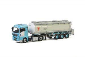 H&S Transport; MAN TGX XLX EURO 6 4X2 TANK TRAILER – 3 AXLE – WSI – 01-2834 – 1:50
