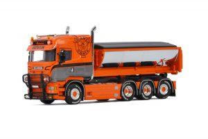 Mark & Transport Österlen; SCANIA STREAMLINE HIGHLINE 8X4 HOOKLIFT SYSTEM + HOOKLIFT CONTAINER ASPHALT – WSI – 01-3193 – 1:50