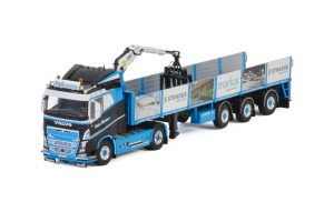 PWT Cargo; VOLVO FH4 SLEEPER CAB 4X2 BRICK TRAILER – 3 AXLE – WSI – 01-3191 – 1:50