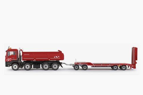 "MAN TGS M E6C – Vasca ribaltabile 4 assi 4 x 2 + trasporto mezzi 4 assi ""KUTTER"" – CONRAD –  77247/0"
