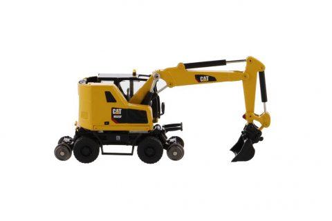 CAT M323F escavatore gommato ferroviario giallo – DIECAST MASTERS – 85612 – 1:87