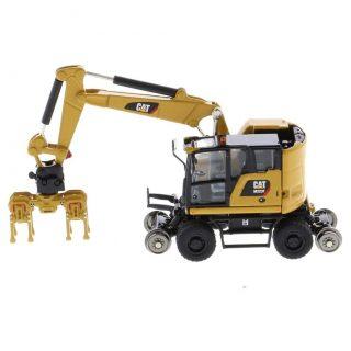 CAT M323F escavatore gommato ferroviario giallo – DIECAST MASTERS – 85656 – 1:87