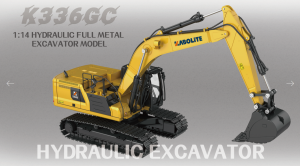 *PREORDINE UFFICIALE ITALIA* HUINA – K336GC 2nd version – KABOLITE – 1/14 – Full metal – RC – hydraulic  excavator